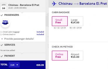 Wizz Air Barcelona Cheap Ticket