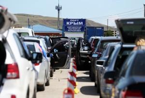 Керченская паромная переправа в Крыму